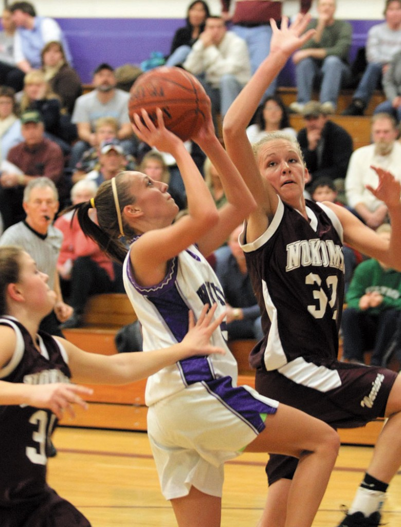 A SENIOR LEADER: Nokomis senior Kara Batchelder (32) does a lot of little things for the Warriors. She has quietly led Nokomis to a berth in the Class B state championship game, where the Warriors will face York at 7 p.m. Friday at the Bangor Auditorium.