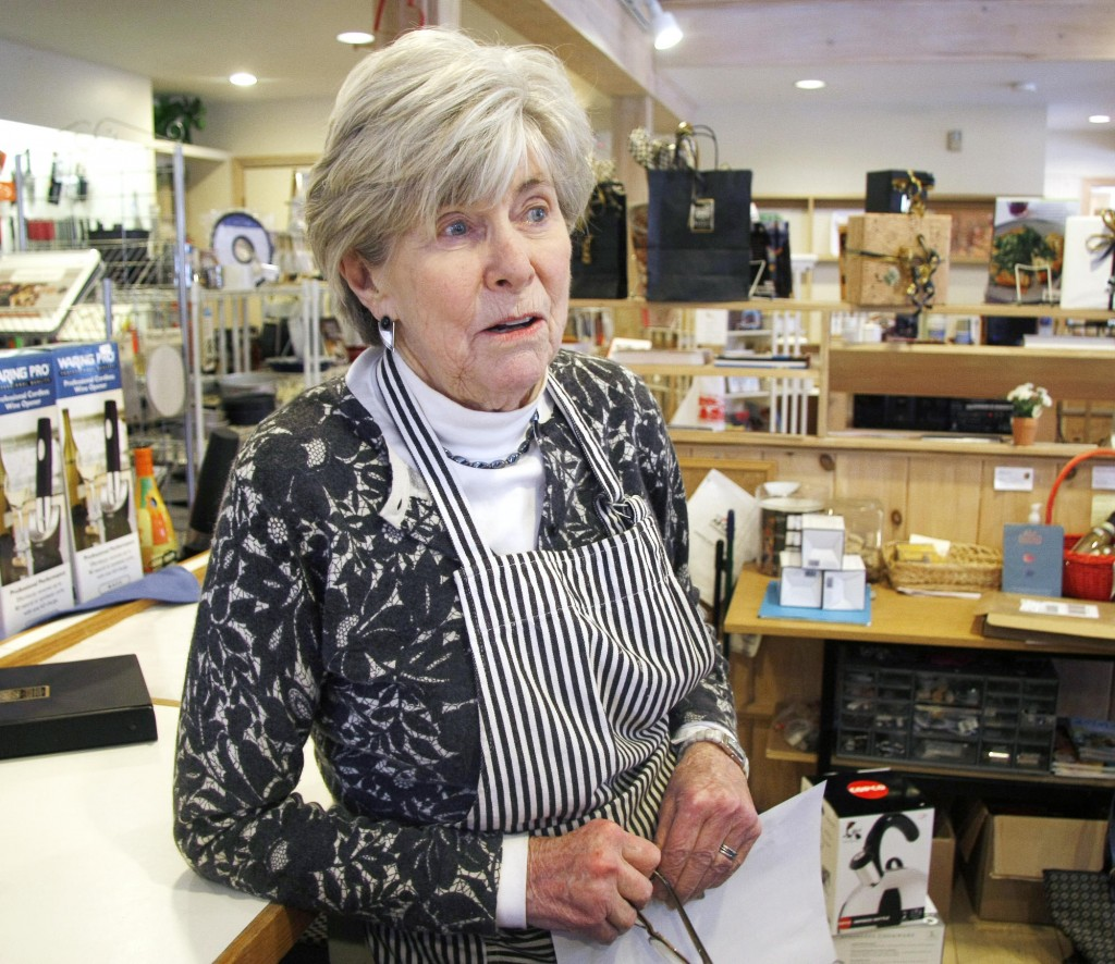 Dodie Phillips, owner of Key to the Kitchen in Kennebunk's Lower Village, talks about the proposed TIF district, and where she'd like to see funds used for improvements.