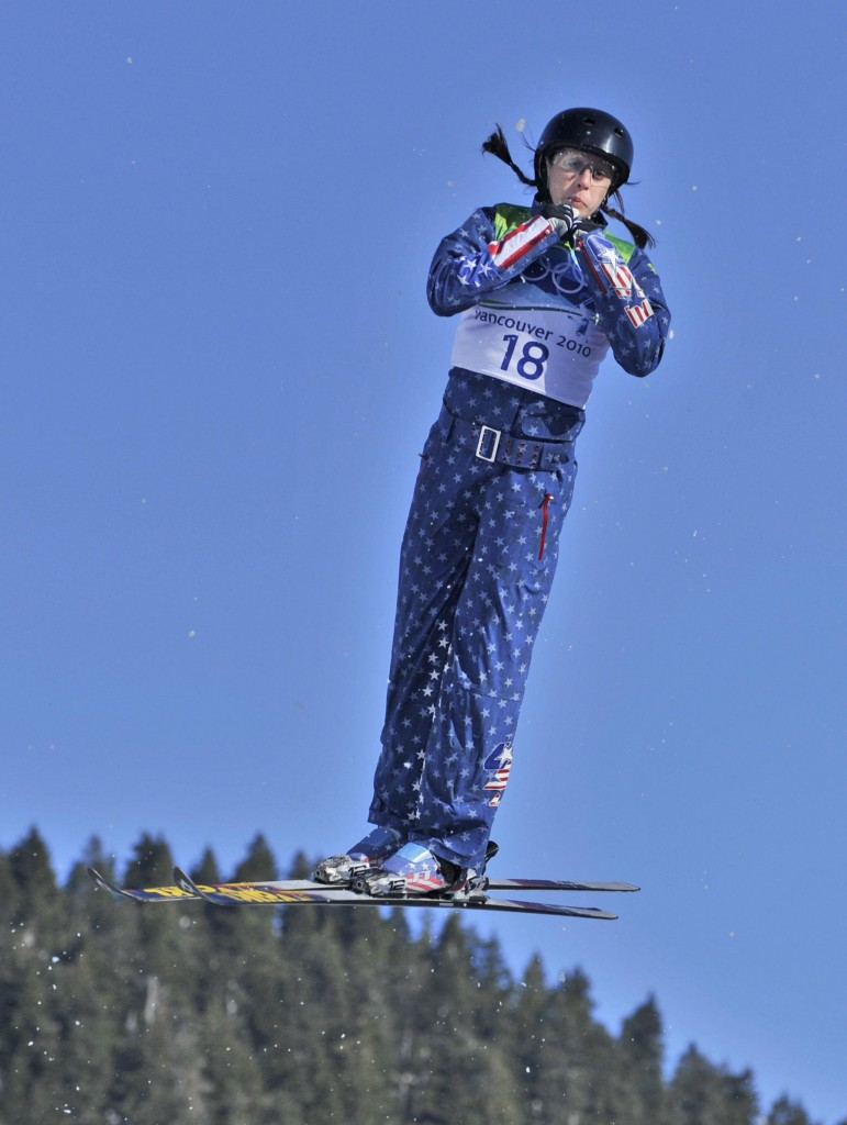 Emily Cook, a graduate of Carrabassett Valley Academy who lives in Park City, Utah, was one of 12 women to qualify for the freestyle skiing aerials finals Saturday.