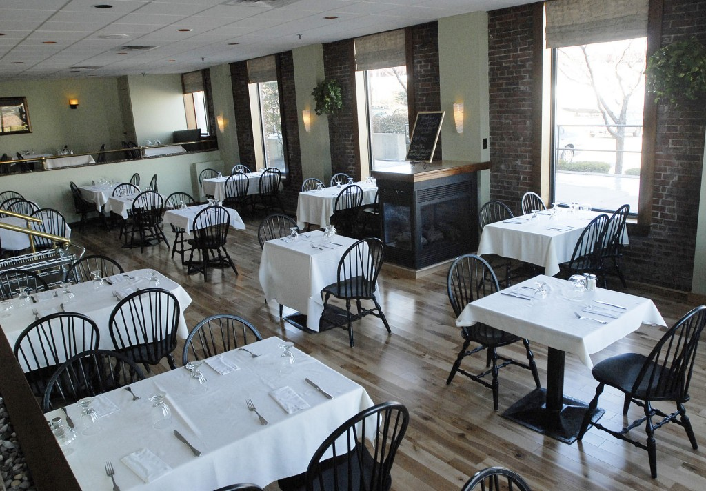 The Snow Squall restaurant has wood floors and a gas stove that fairly begs for a chilly, snow squall kind of day.
