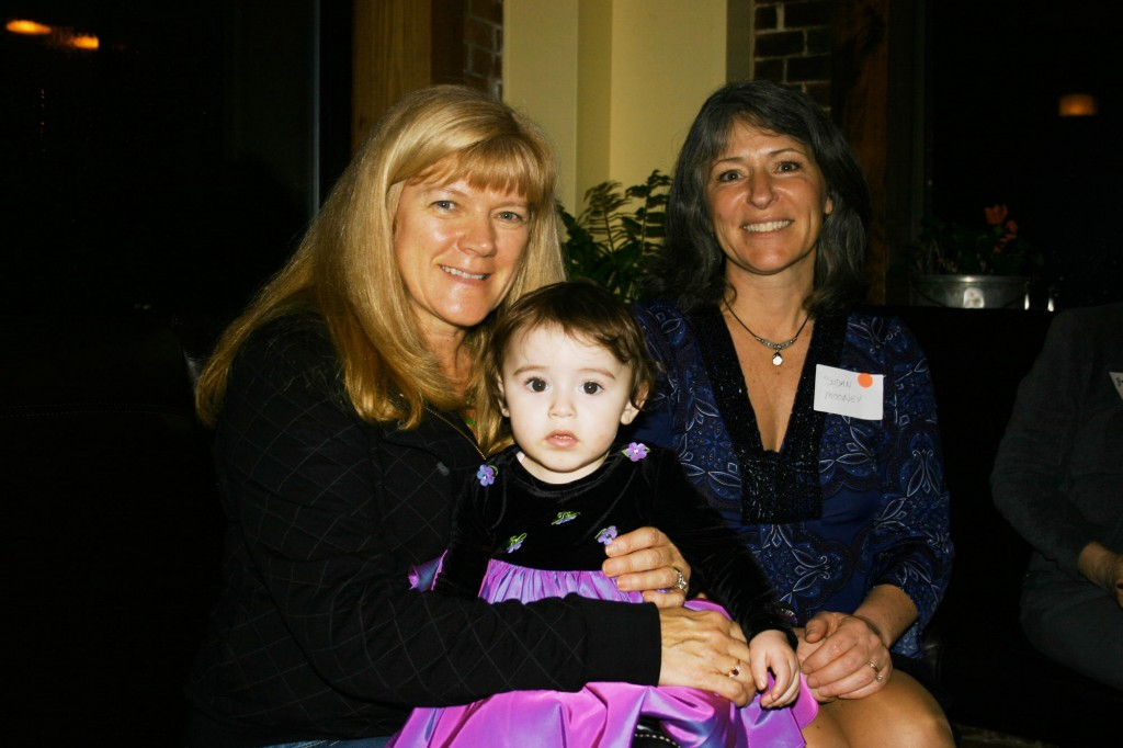 Julie Gillies, her granddaughter Haylee Michaud and South Portland City Clerk Susan Mooney.