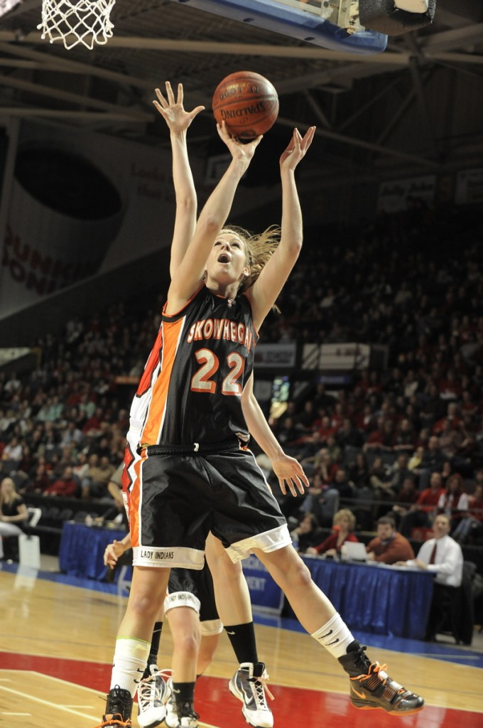 Mackenzie Smith of Skowhegan goes up for a basket.