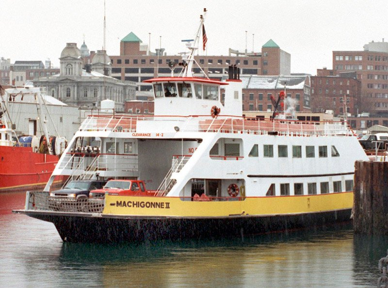 Casco Bay Lines' car ferry, the Machigonne II. Casco Bay ferry John Patriquin Lisa Plummer Machigonne II