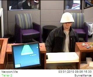 Police are searching for this young man in connection with a bank robbery in Newport on Wednesday morning.