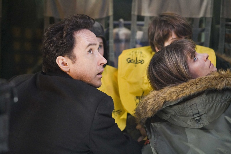 "John Cusack and Amanda Peet in ""2012,"" a special-effects extravaganza that boasts impressively created disasters."