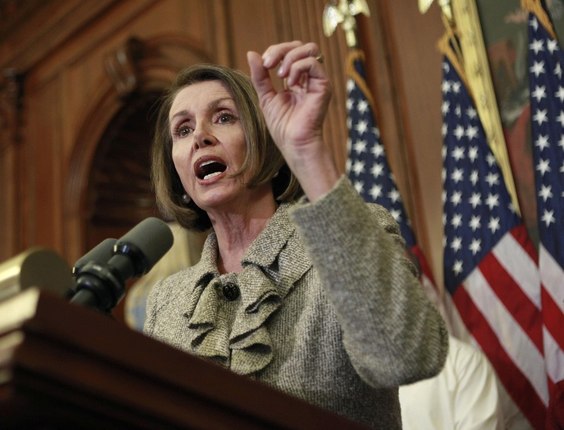 "House Speaker Nancy Pelosi, D-Calif., on Thursday called the health care legislation ""a triumph for the American people in terms of deficit-reduction."""