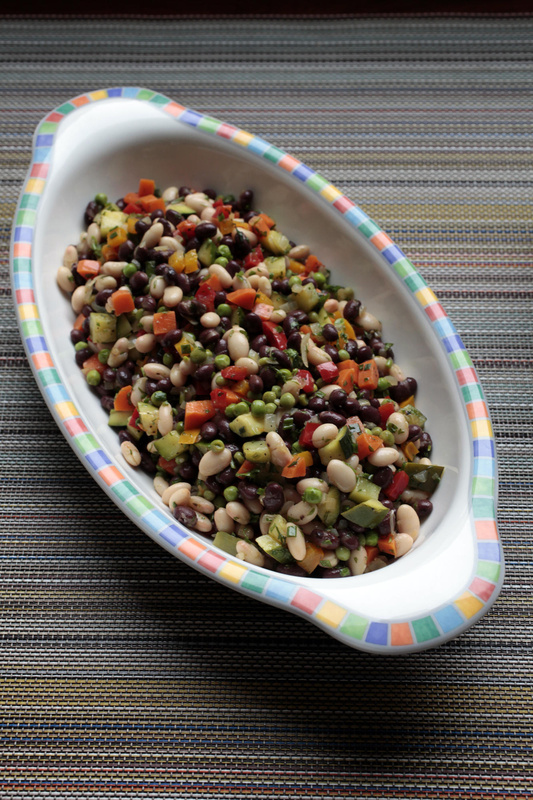 Black and White Bean Primavera Salad