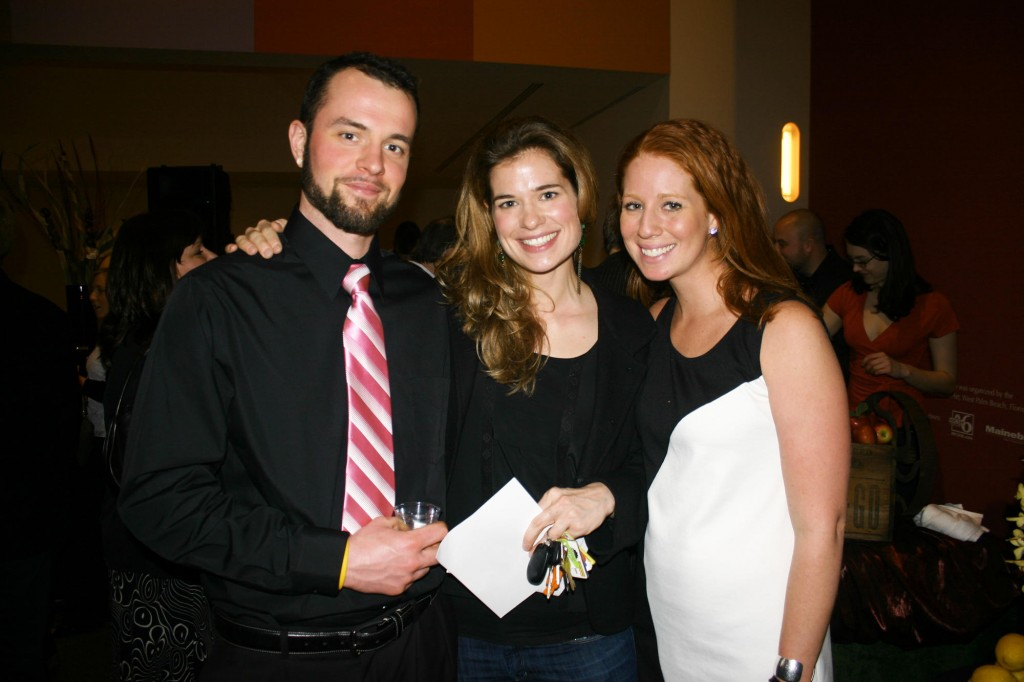Rick Kmetz, Sandra Christiansen and Laura Zimmerman, who's with Cold River Vodka.