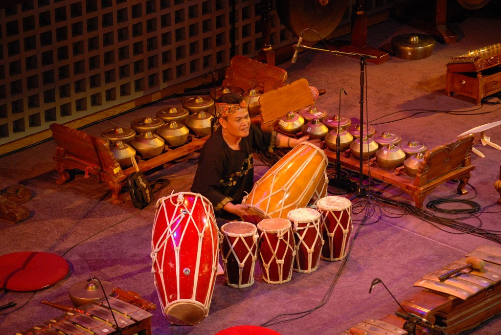 Wahyu Roche, a Sundanese musician who has been a Learning Associate at Bates College this winter, will perform with the Bates Gamelan Orchestra.