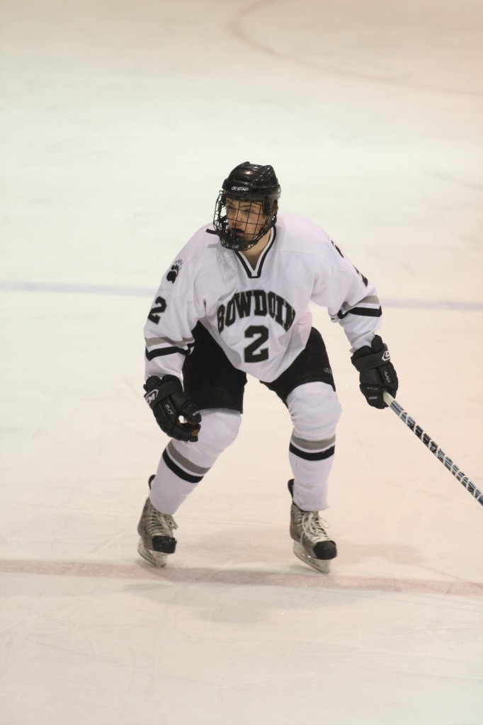 Kit Smith, who won the Travis Roy Award while at Brunswick High, took a year to adjust to college hockey at Bowdoin, and now has become a team leader.