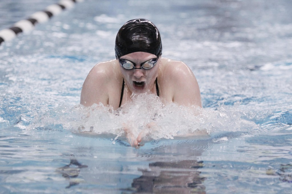 Jenni Roberts of Sanford broke state records this season in four events – the 100-yard butterfly, 200 individual medley, 100 freestyle and 100 backstroke.