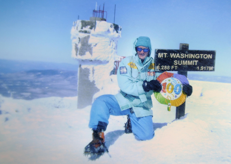"Now 53 and with 100 climbs to the Mount Washington summit, Peter Arsenault says ""I'm kidding myself if I think I can go up Mount Washington any time I want."""