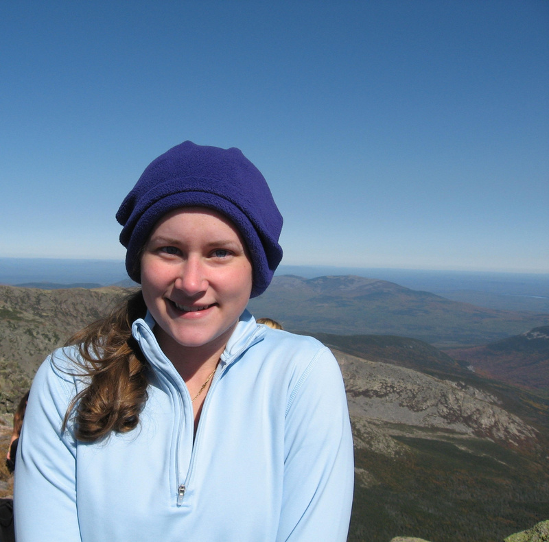 Katherine Spring of Wells poses atop Mount Katahdin. Spring is one of two Maine Class of 2010 graduates to attend an all-expenses-paid summer science camp sponsored by the National Youth Science Foundation.