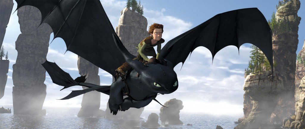"Hiccup (Jay Baruchel) befriends Toothless, an injured Night Fury, the most rare dragon of all, in DreamWorks Animation's ""How to Train Your Dragon."" Writer/directors Dean DeBlois and Chris Sanders had only 12 months to do a top-to-bottom overhaul on the 3-D project."