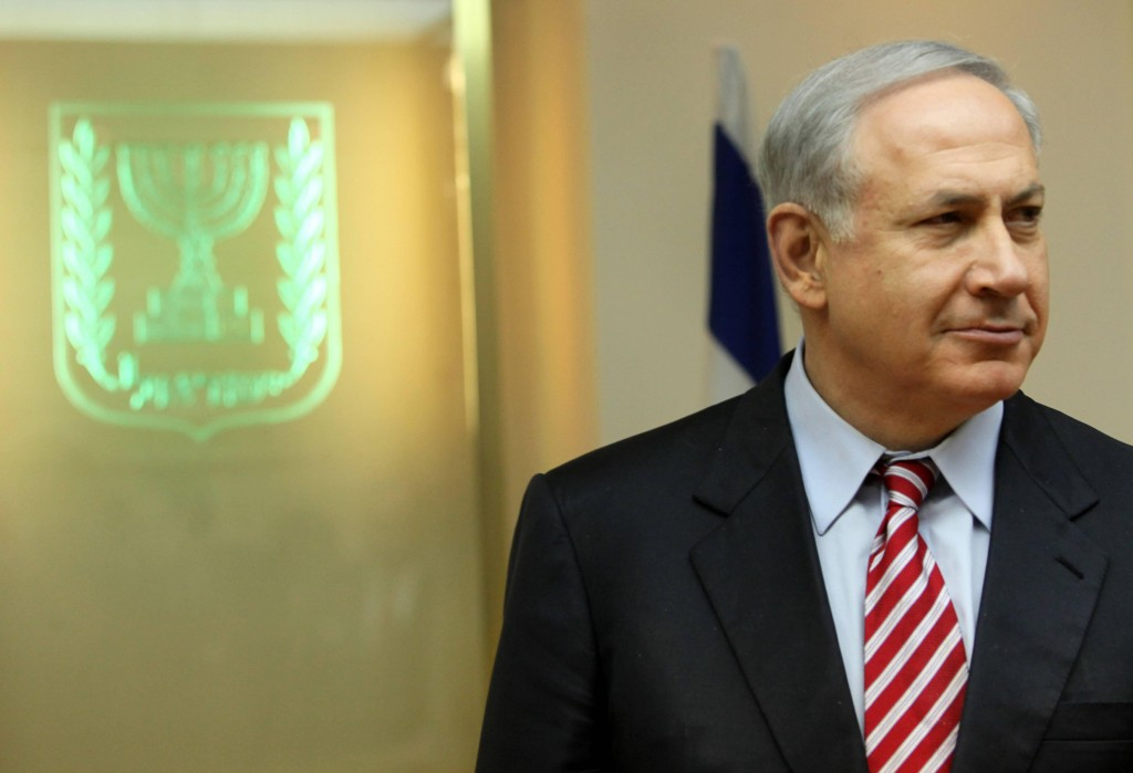 Israeli Prime Minister Benjamin Netanyahu pauses during a meeting Sunday in Jerusalem with U.N. Secretary General Ban Ki-moon, who was touring the Gaza Strip wants a nearly three-year blockade of Gaza lifted.