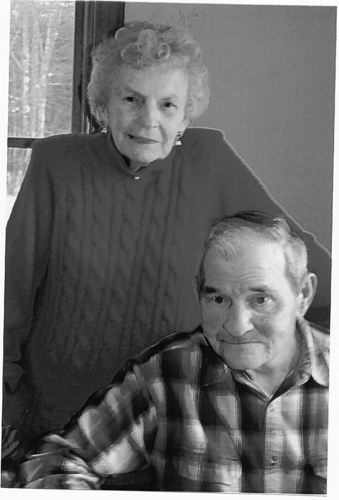 Oscar Libby, seen here with his wife, Gloria, lied about his age to get a job with the state, dumping sand atop road tar so it wouldn't stick to tires. Gloria Libby says he cleaned up the driveway the night before he died.
