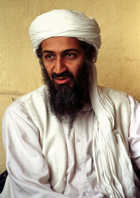 Osama bin Laden is seen in Afghanistan in April 1998. In a new recording, bin Laden threatens to kill any captured Americans if the U.S. executes the mastermind of the Sept. 11 attacks.