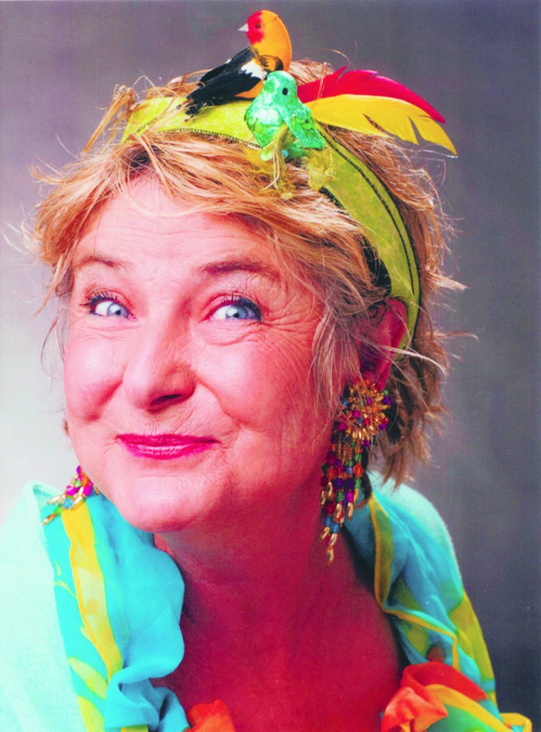 Karmo Sanders as Birdie Googins performs her comedy show Thursday.