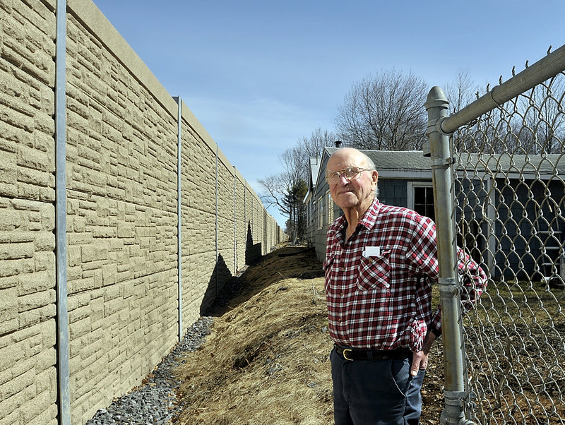 "Paul ""Andy"" Anderson was instrumental in getting the 10-foot-tall sound wall installed along Interstate 295 in South Portland. The neighborhood still hears the rumble of traffic, but most say the 3,550-foot composite wall has made a vast improvement."