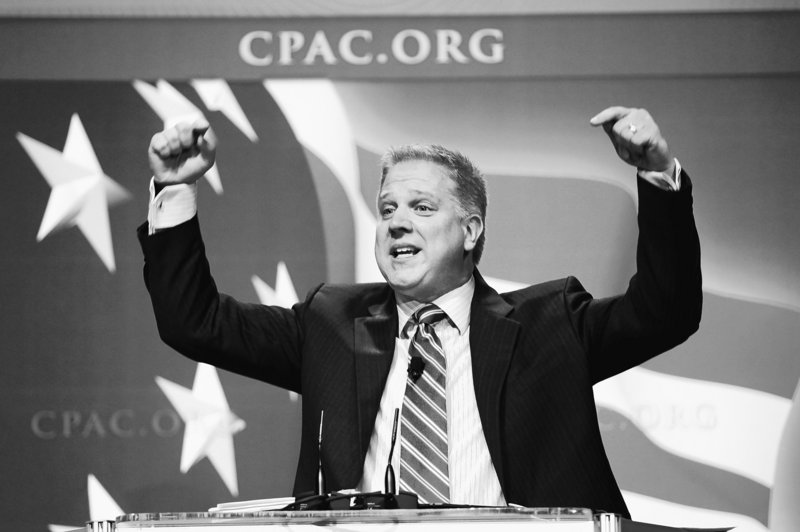 TV host Glenn Beck addresses the Conservative Political Action Conference in Washington on Feb. 20. Thousands of fans welcomed him Saturday in Orlando, Fla.