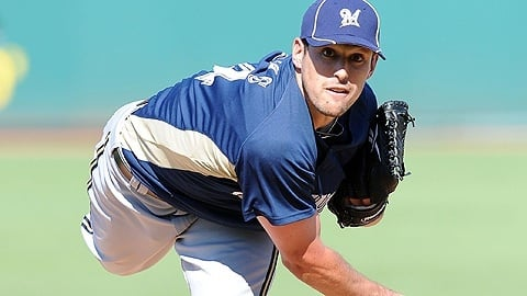 Scott Paulus/Milwaukee Brewers Mark Rogers, the former Mt. Ararat pitcher, is ready to fulfill his potential as a first-round draft pick.