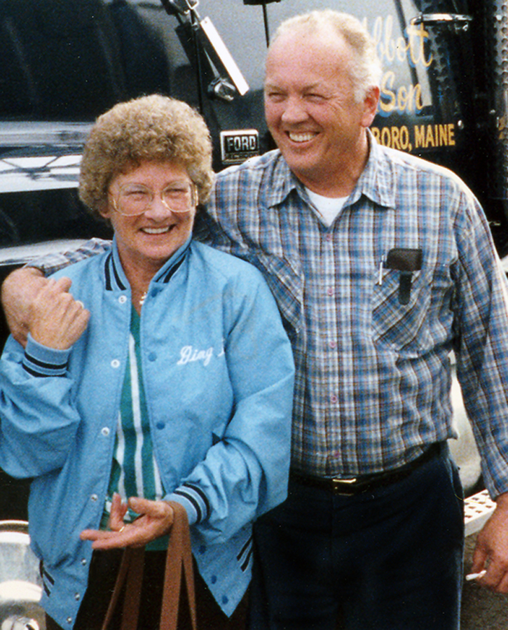 Marjorie and Clinton Abbott are shown in Sparks, Nev., in 1985. He was a long-haul trucker for many years and she often traveled with him.