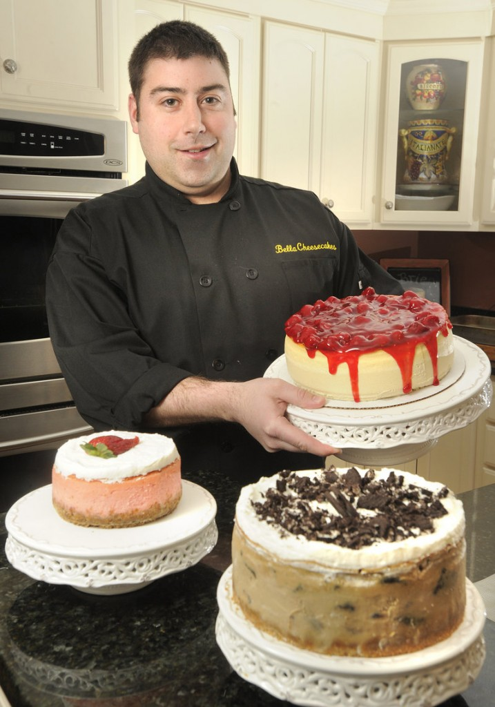 Tony Dominicus, a vocational coach at Pineland by day, is slowly but steadily building his side business, Bella Cheesecakes, out of a commercial kitchen in Westbrook. Flavors range from creamsicle and margarita to tiramisu and the maple bacon he made recently for a friend's bachelor party.