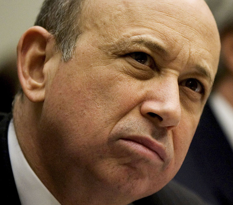 Goldman Sachs & Co. Chief Executive Officer Lloyd Blankfein testifies on Capitol Hill before the House Financial Services Committee in this 2009 file photo.