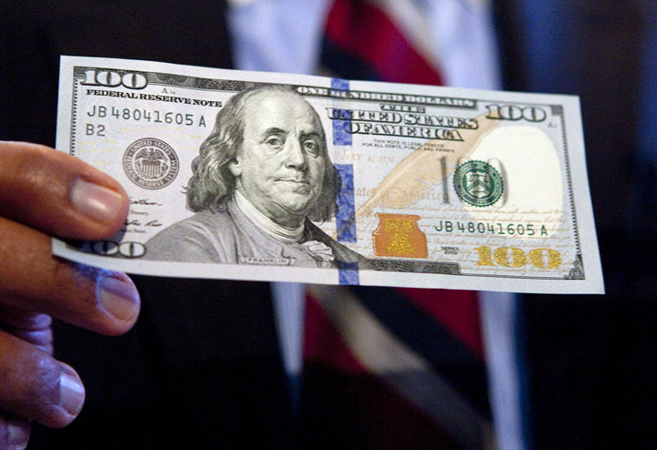 Complete with advanced technology to combat counterfeiting, the new design for the $100 bill retains the traditional look of U.S. currency. $100 BILL U.S. CURRENCY TREASURY COUNTERFEITING