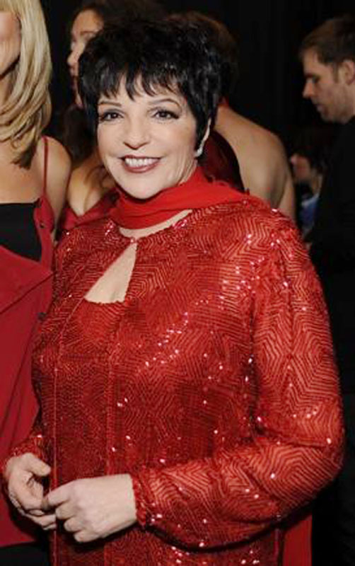 Liza Minnelli, pictured in 2008 at The Heart Truth Fashion Show. Backstage