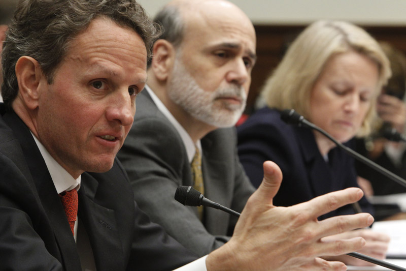 Treasury Secretary Timothy Geithner, Federal Reserve Chairman Ben Bernanke, and Securities and Exchange Commission Chair Mary Schapiro testify before the House Financial Services Committee today regarding financial reform.