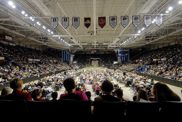 The Jehovah' s Witnesses held their annual convention at the Cumberland County Civic Center in Portland last May with over 4,000 in attendance. The civic center is considered Maine's premier venue and it serves a reliable market, but its