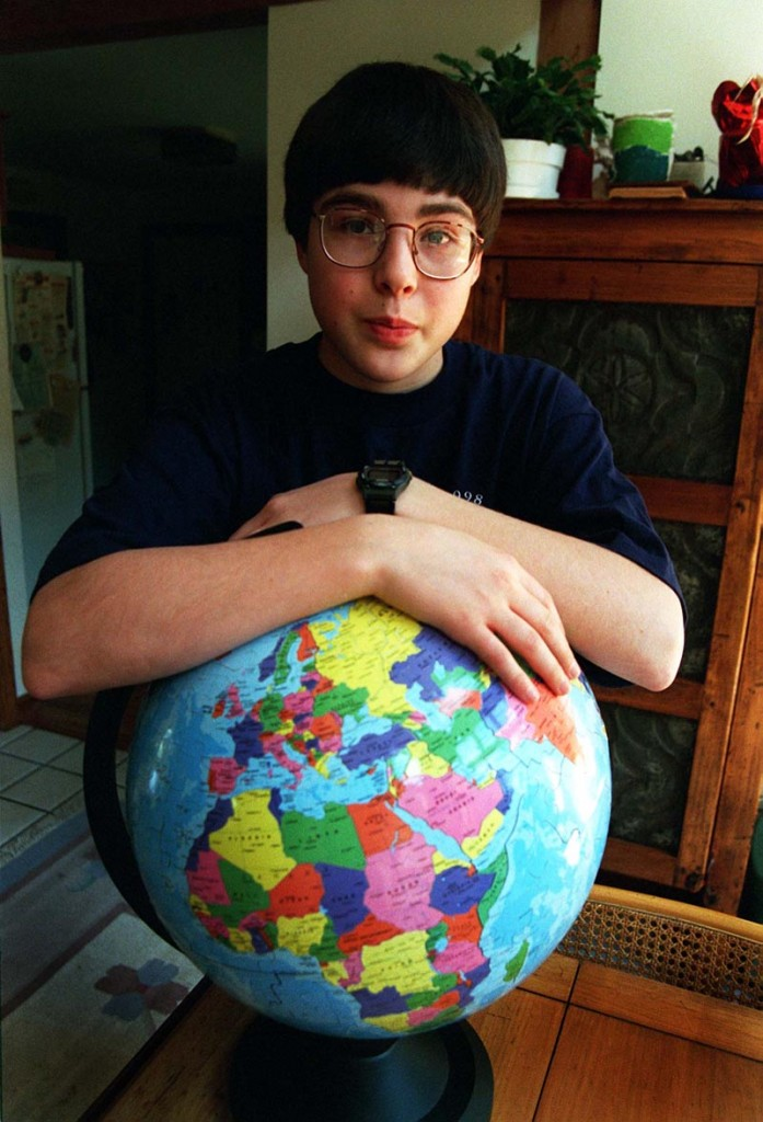 Greg Thaler of Yarmouth, knows his way around a globe. He was a previous winner of the state geography bee.