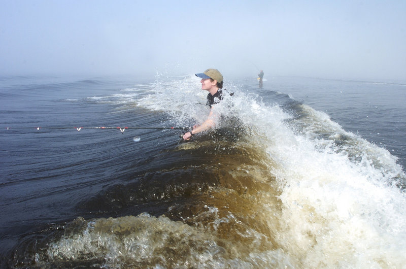 Fishing for stripers can get you wet in ways that waders weren't meant to cover. State Sen. David Trahan also felt inundated by changes to his bill on saltwater fishing, which is why he ended up opposing it, a reader says.