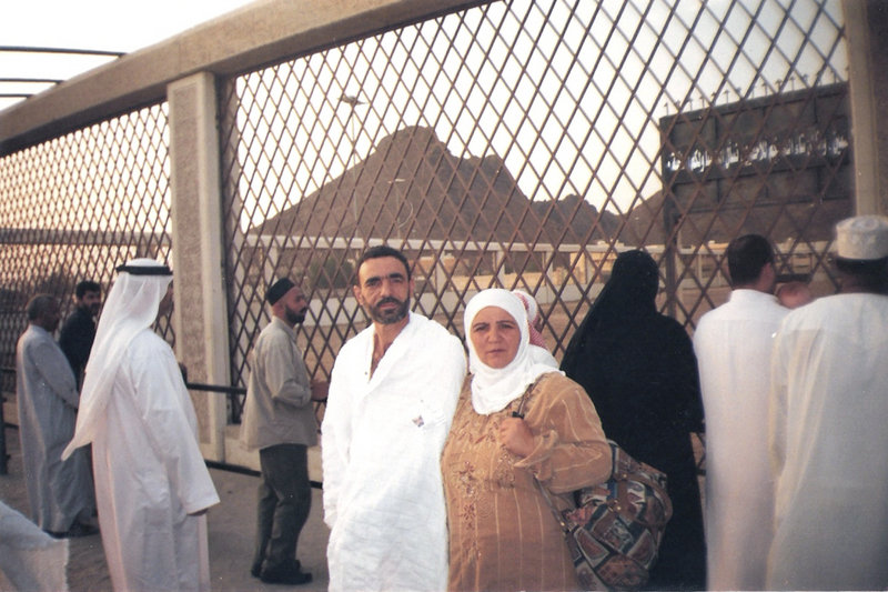 Lebanese TV psychic Ali Sibat, convicted of witchcraft and facing possible beheading, poses for a photograph with his wife at an unknown location in Saudi Arabia.