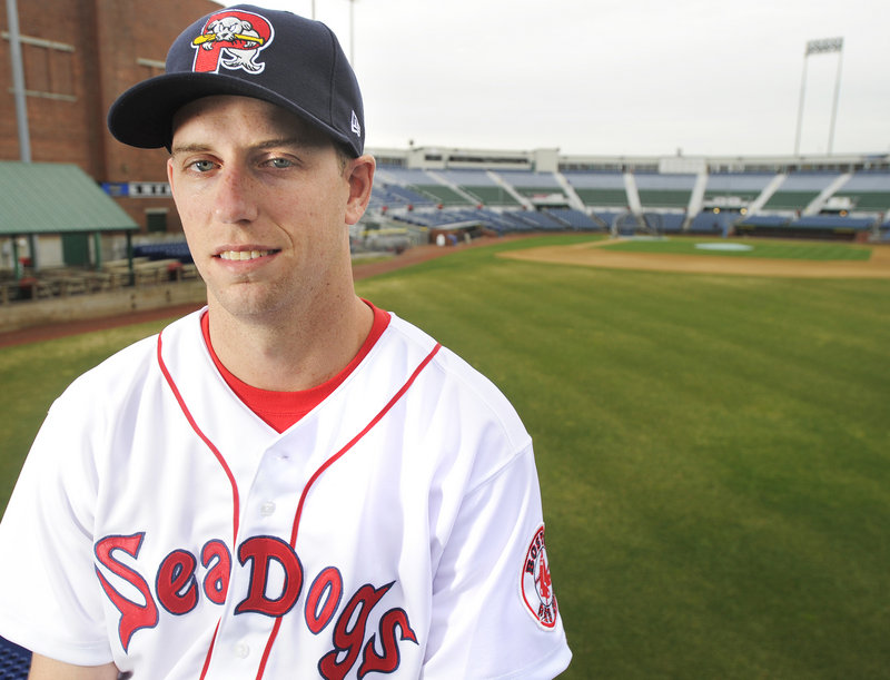 Bryce Cox is back with the Portland Sea Dogs, not as a prized prospect but as a pitcher continuing to regain his form.