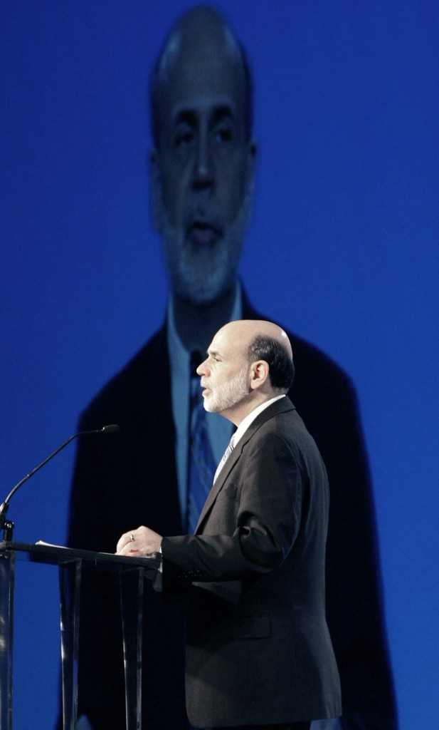 Federal Reserve Chairman Ben Bernanke, speaking in Dallas on Wednesday, said economic growth won't be robust enough to quickly drive the 9.7 percent unemployment rate down.