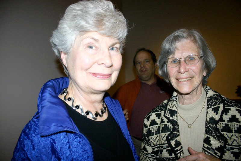 Katharine Watson, the museum's former director, and Virginia Derr