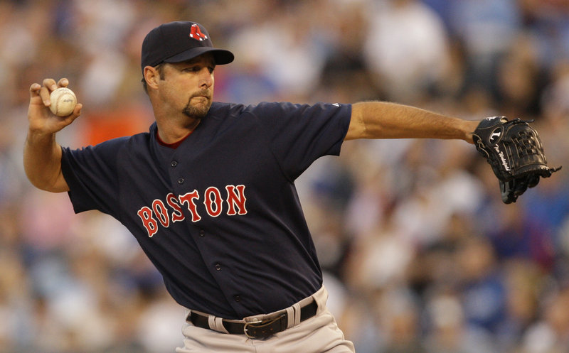 Tim Wakefield lost his chance at a victory Friday night when the bullpen continued its shaky start. Wakefield gave up two runs and six hits in seven innings for Boston.