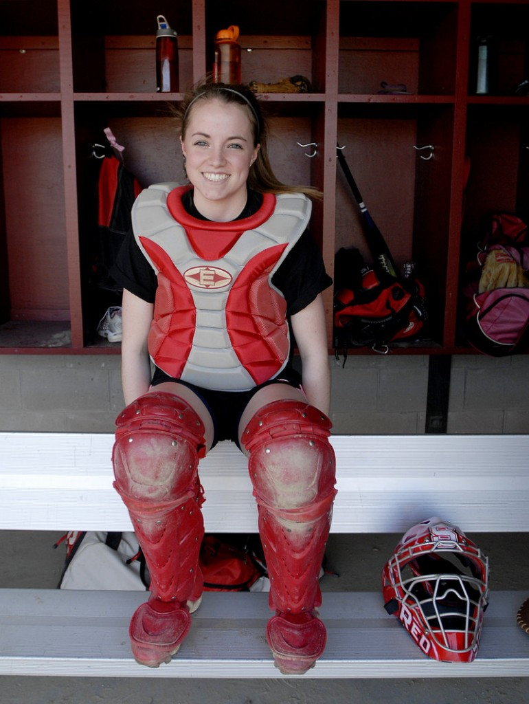 Heather Carrier of Scarborough has the confidence of her coach to call pitches, and the personality and talent to help carry her softball team no matter the situation. Scarborough is defending the Class A state title.