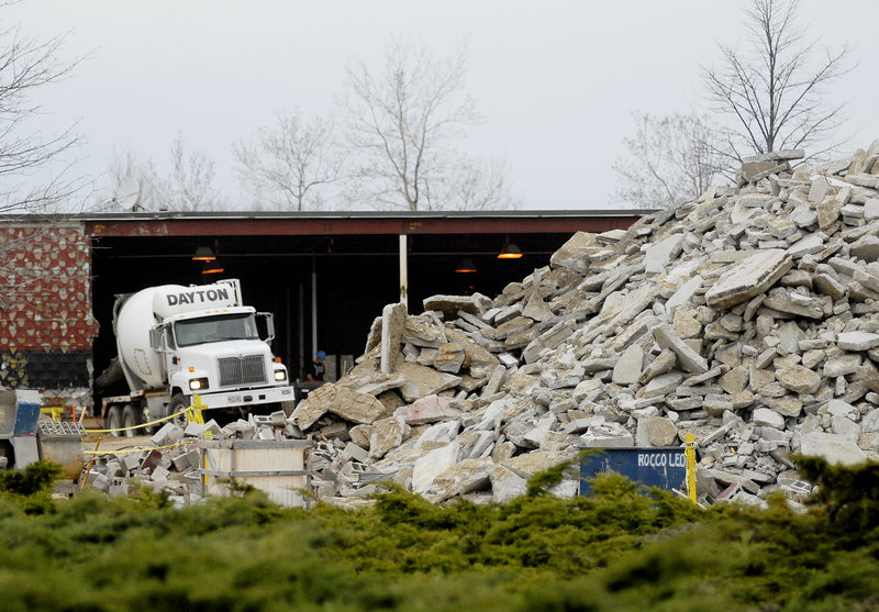 Redevelopment continues at the former Orion Center on Route 1 in Scarborough. Maine Health is relocating diagnostic laboratories and back office functions to the old strip mall.