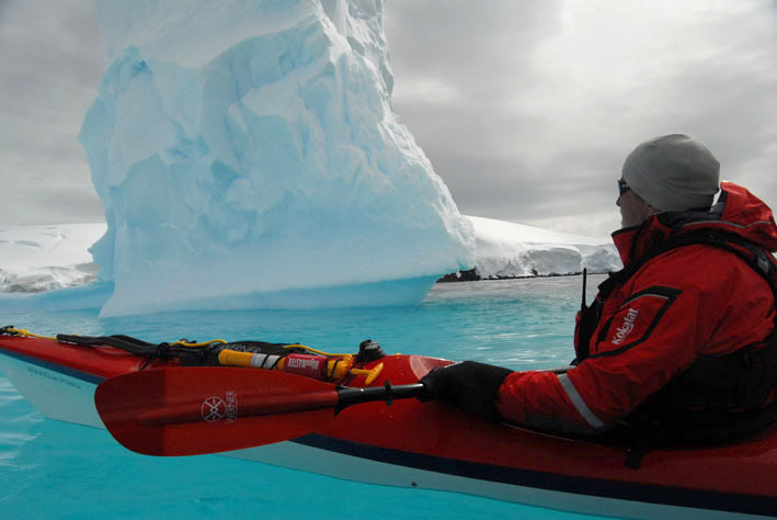 """Selections from """"Terra Antarctica,"""" documenting a six-week exploration of the Antarctic Peninsula by sea kayak, are part of the Paddler's Film Festival lineup."""