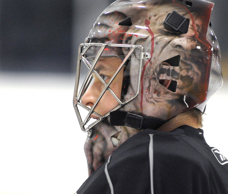 Beau Erickson, who joined the Pirates last week to provide depth with starting goalie Jhonas Enroth still sidelined with an injury, has played in 27 games with three pro teams this season.