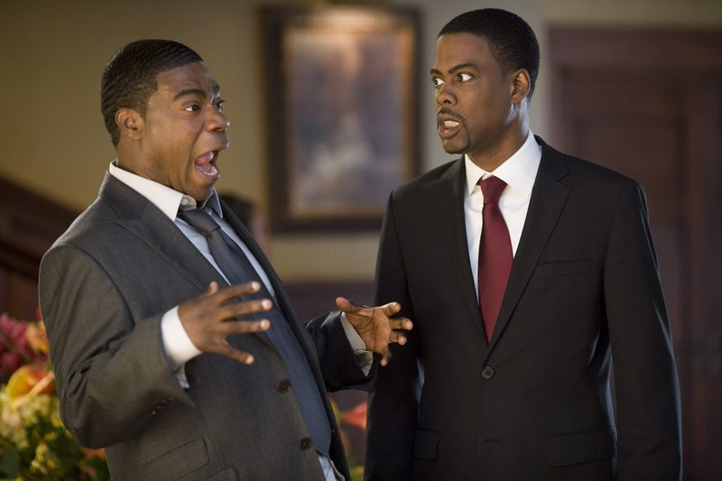 "Tracy Morgan and Chris Rock in a scene from the new comedy ""Death at a Funeral."""