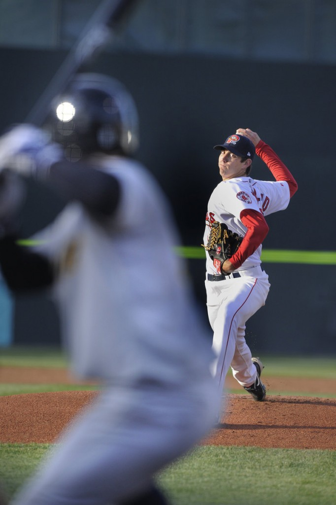 Kyle Weiland had a strong start Thursday night for the Portland Sea Dogs in a 4-2, 11-inning loss to the Trenton Thunder. Weiland allowed two runs in five innings, striking out six.