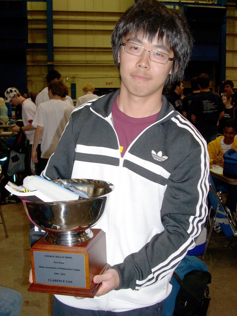 Thornton Academy student Clarence Yan was the Individual High Scorer at the Maine Association of Math Leagues contests.