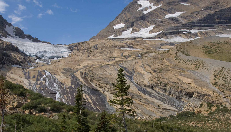 This 2009 Geological Service photo shows the remnants of the Jackson Glacier at Glacier National Park in Montana.