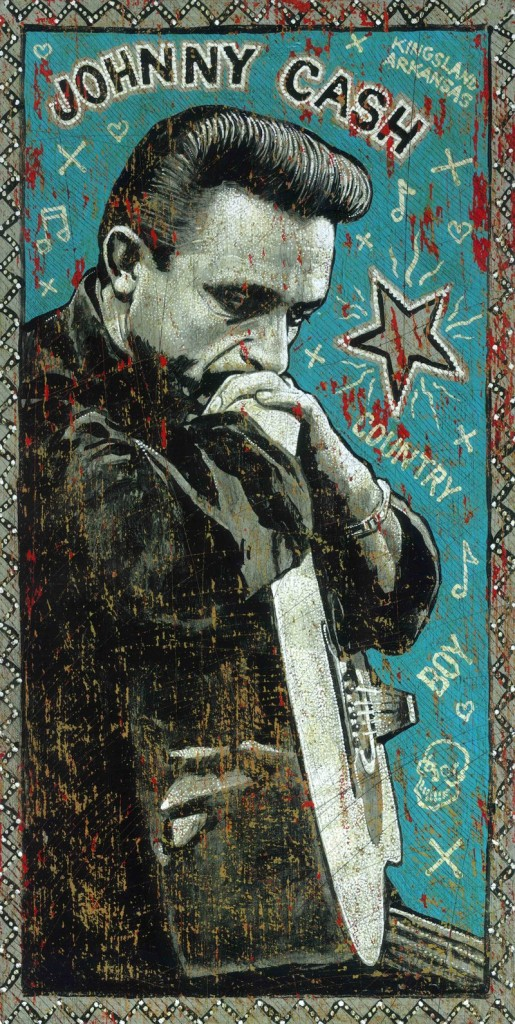 """Country Boy"" by Jon Langford is part of the art display at Space Gallery through May 21."