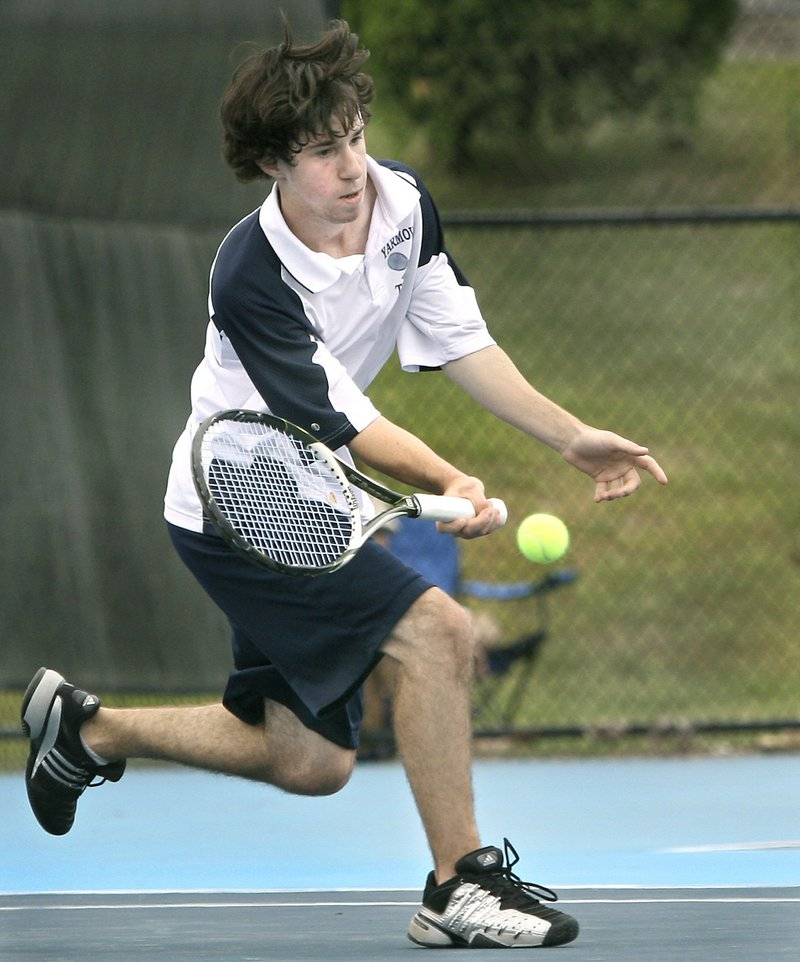 Ben Robinson will be playing No. 1 singles this season for a Yarmouth team seeking to retain its Class B state championship.