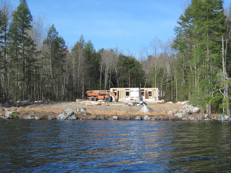 In Naples, this parcel of land along Long Lake was cleared of trees in violation of shoreland zoning rules. A state investigation has yielded a controversial remediation plan.